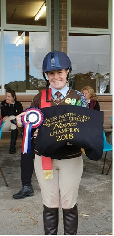 Bree Peters 2018 LNZ Novice Dressage Champion